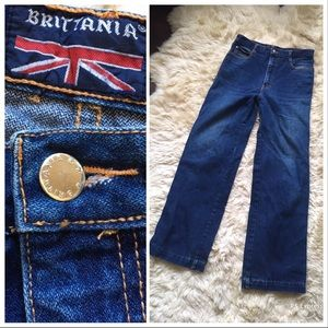 vintage denim! 1970s 80s BRITTANIA jeans, large